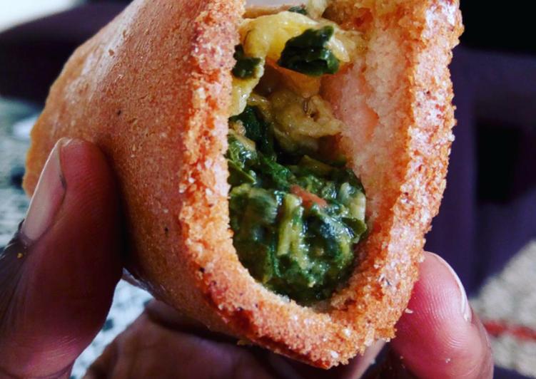 Okra and egg sandwich