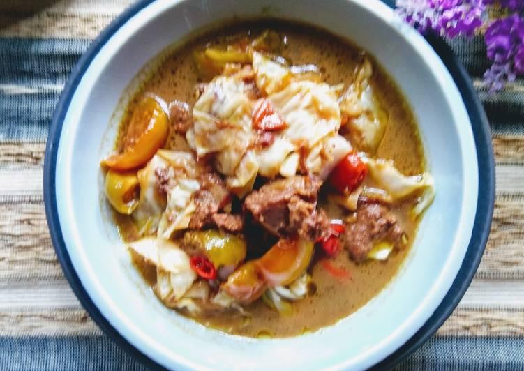 Resep Tongseng Daging Kerbau (Estafet Empal Gentong) yang enak