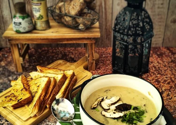Resepi:  Mushroom Soup  Lazat