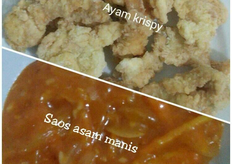 Ayam krispi saos asam manis ^.^