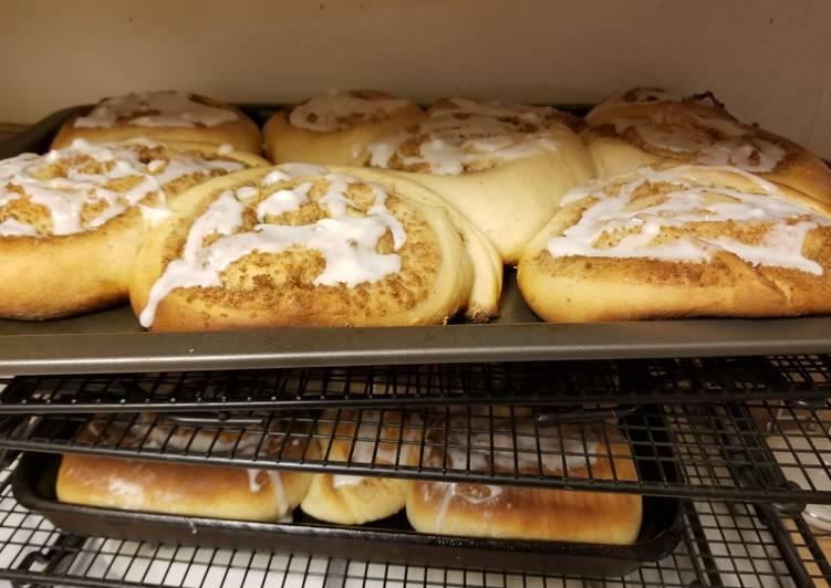 LAUSD cinnamon roll recipe