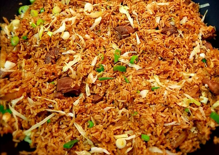 Easiest Way to Make Appetizing Indonesian Fried Rice Lamb (Nasi Goreng Kambing)