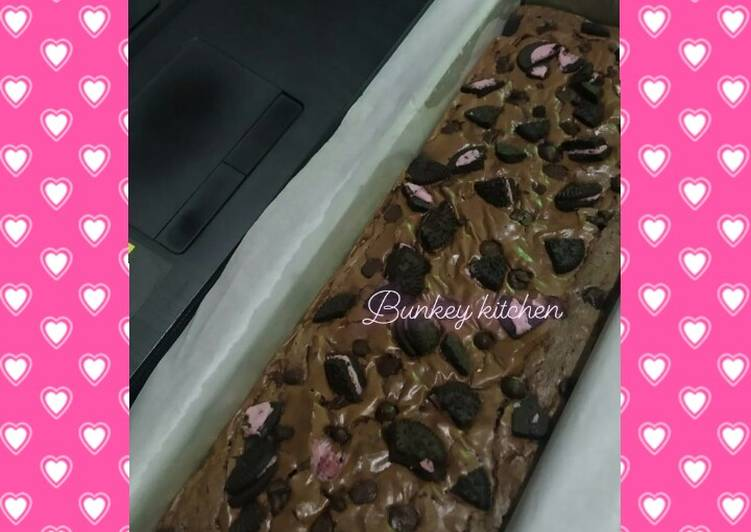 Cara masak Shiny fudge brownies , Lezat Sekali