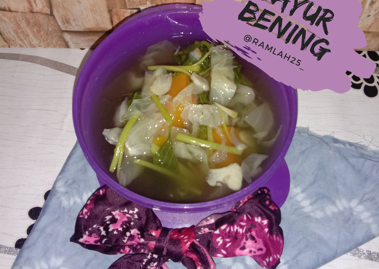 Resep Sayur Bening Anti Gagal