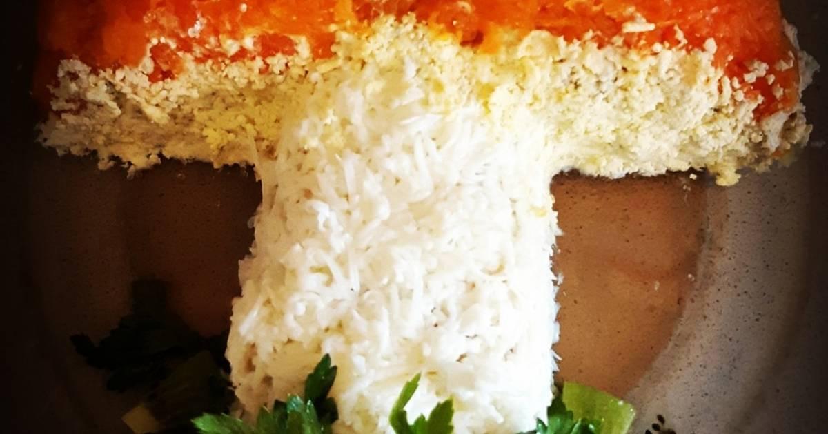 выручку салат в форме гриба рецепт с фото многих