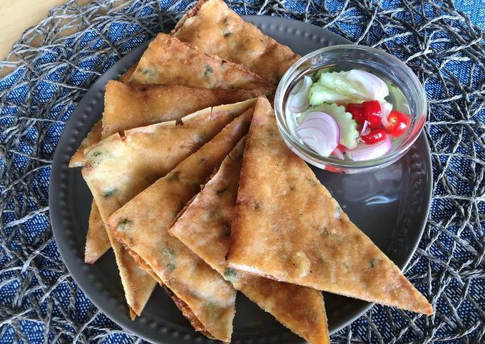 🧑🏽🍳🧑🏼🍳 Thai Crispy Shrimp Pancake • shrimp recipe•Easy Appetizer |ThaiChef food