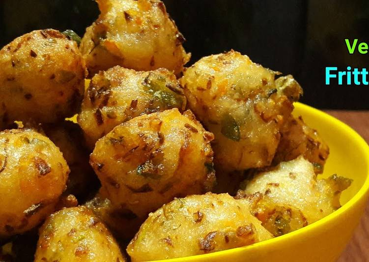 VEG FRITTERS | Fritters with Idly Batter | Andhra style Punugulu