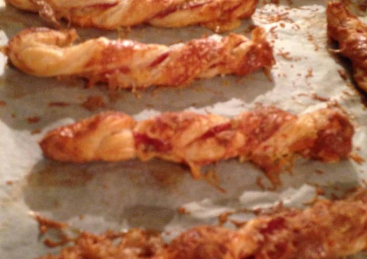 Christmas Parma Ham and Stilton Cheese Straws
