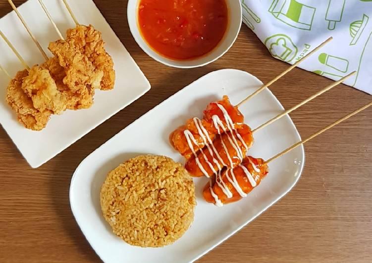 Chicken Hot Rods & Nasi Rendang Ala KFC