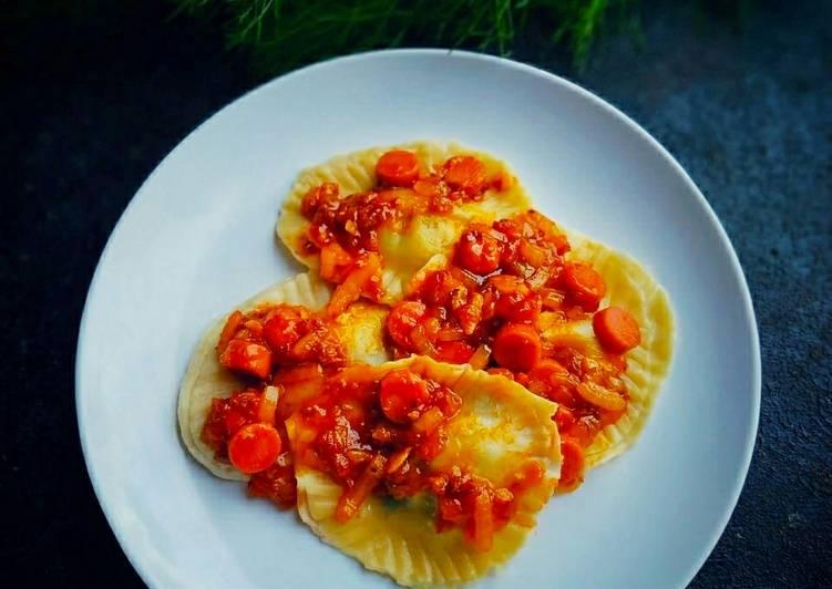Ravioli Pasta Homemade, Isi Bayam