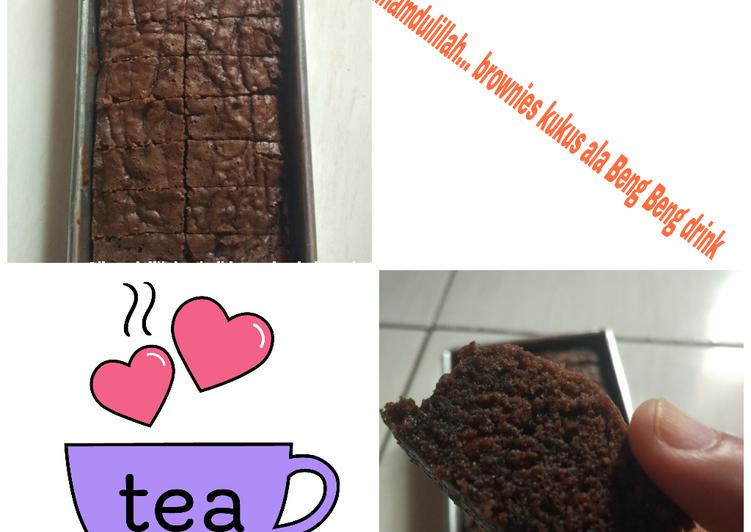Brownies Kukus ala Beng beng Drink