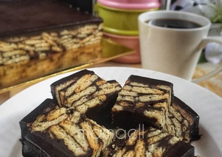 resep kek batik sempoi pinkboxcereal cookshaf foody bloggers Resepi Kek Labu Yang Sedap Enak dan Mudah