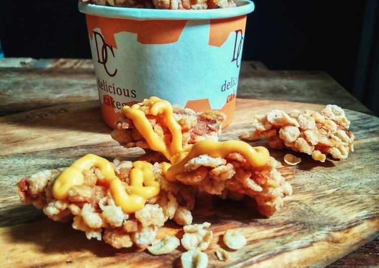 Cheezy Cornflakes Chicken Crispy