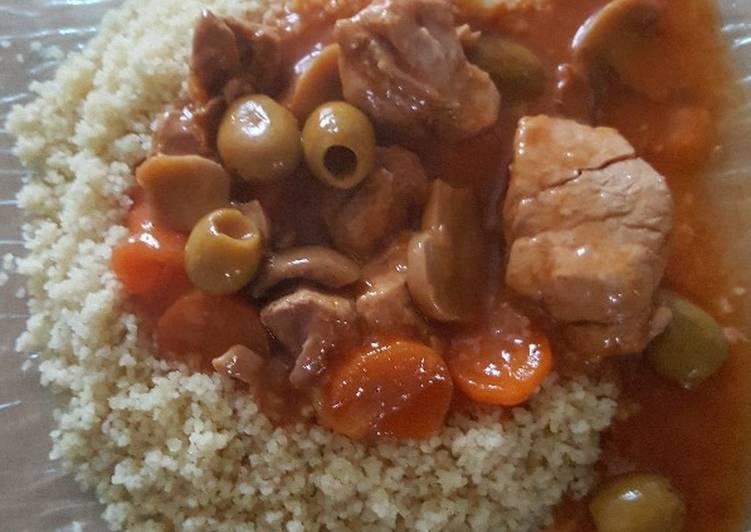 Sauté de porc aux olives et champignons au Cookeo ou faitout
