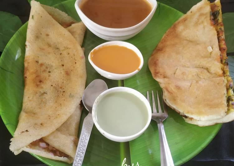 Recipe: Appetizing Pav Bhaji Dosa