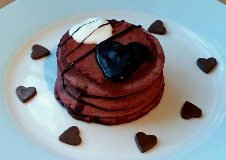 Steps to Make Favorite Vickys Pink Valentines Day Pancakes, GF DF EF SF NF