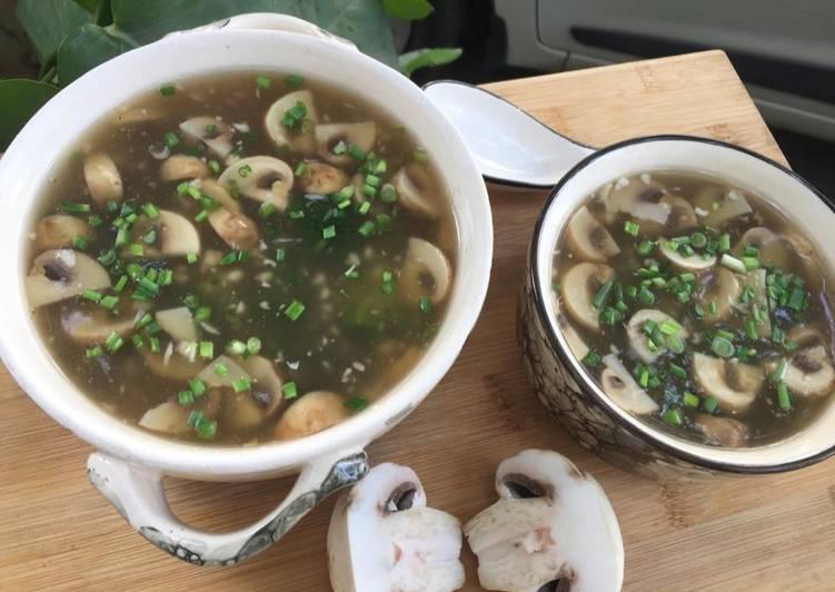 Simple Way to Prepare Quick Broccoli Mushrooms Soup