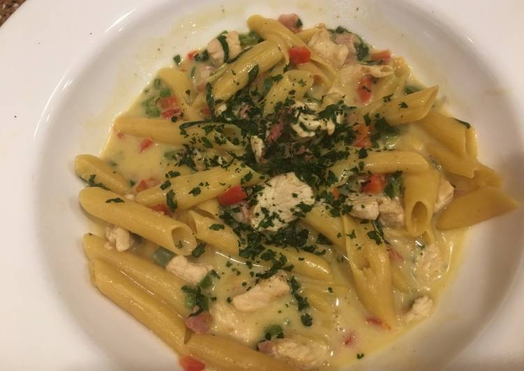Recipe of Speedy Jalapeño chicken pasta