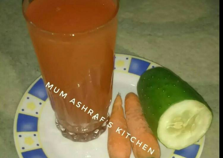 Cucumber and carrot juice
