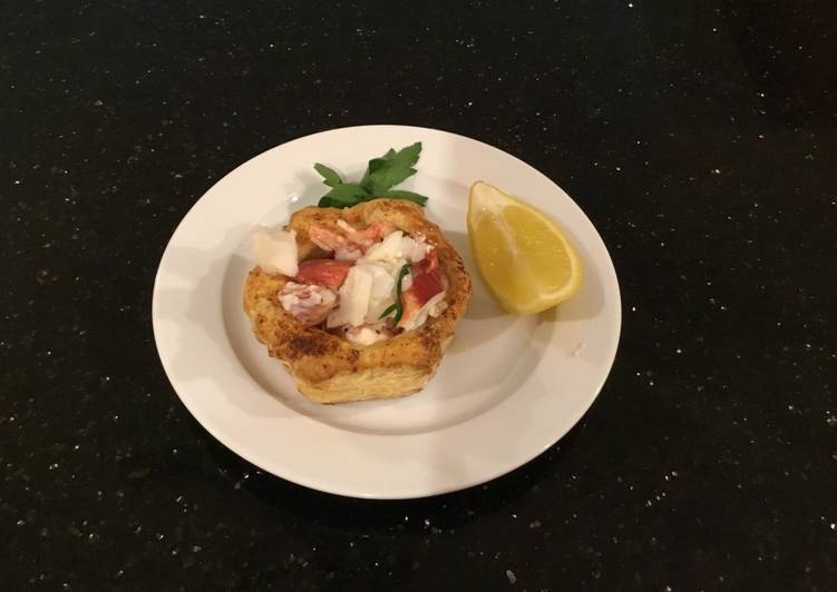 Lobster Filled Puff Pastry