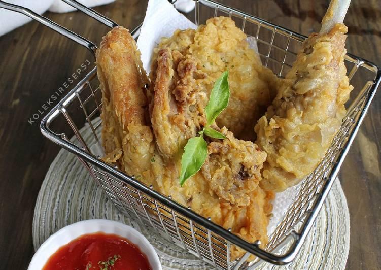 Ayam goreng tepung kribo