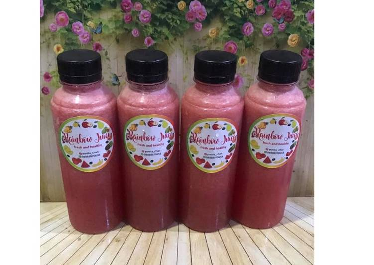 Resep Diet Juice Watermelon Lime Strawberry Cucumber