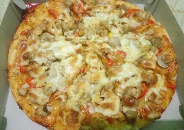 Resep Pizza Ala2 pizza hut Anti Gagal