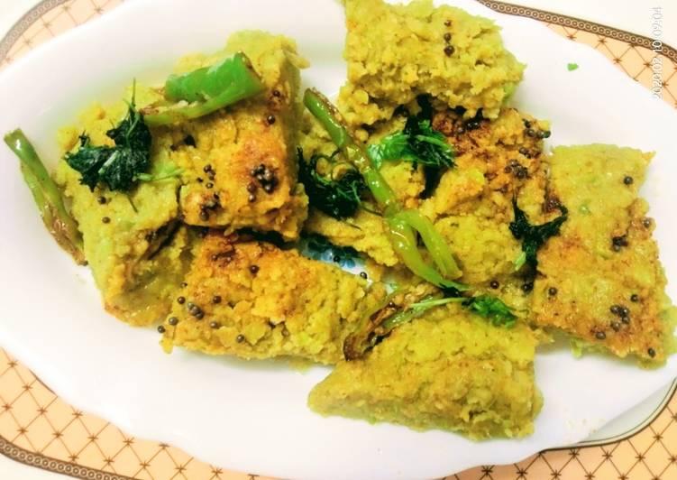 Steps to Make Ultimate Green Peas Dhokla