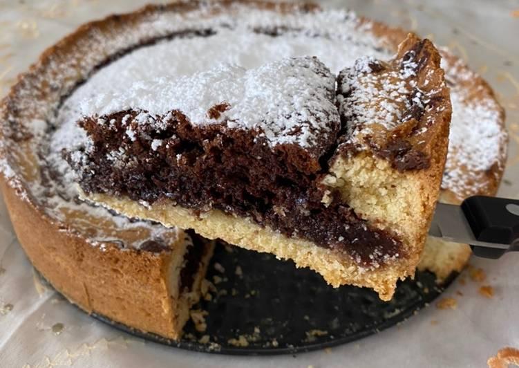 Crostata al cioccolato e nutella con cuore morbido