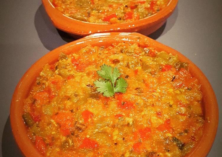Salade cuite tomates / poivrons