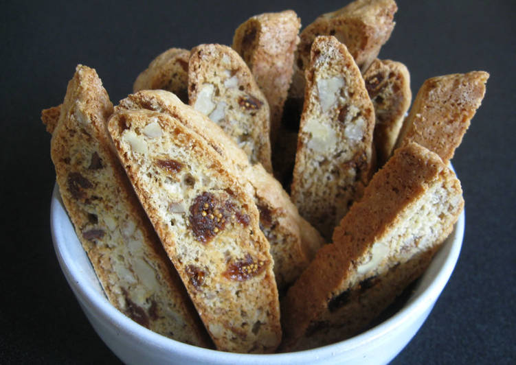 Simple Way to Make Super Quick Homemade Fig & Walnuts Biscotti