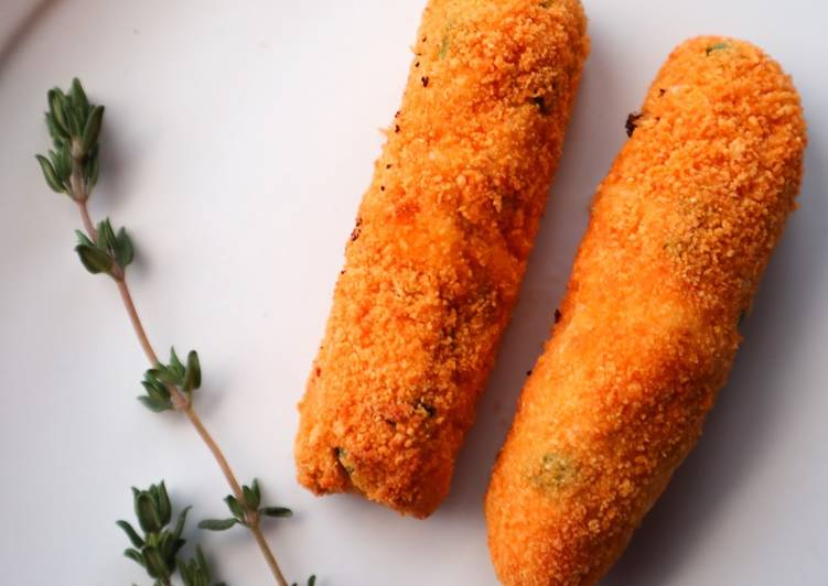 Recipe of Perfect Chicken and Peas Croquettes