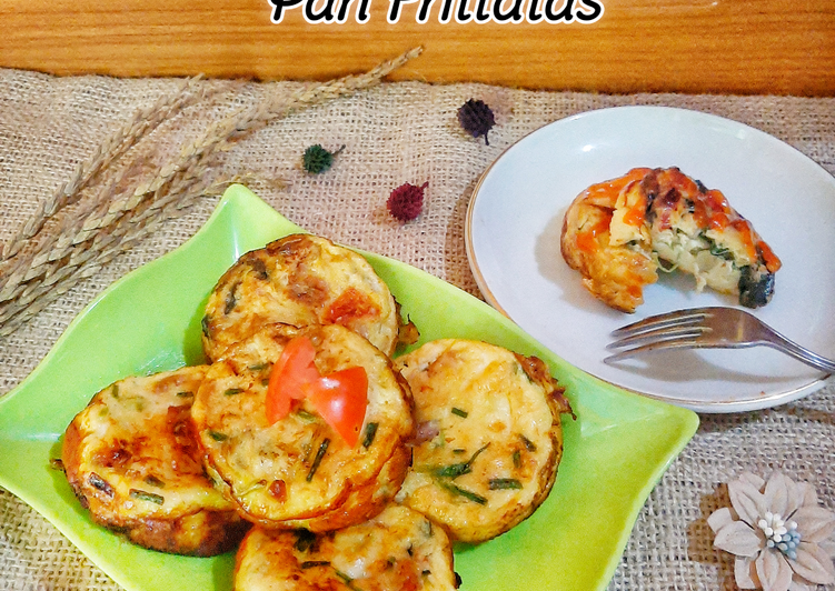 Spinach and Tomato Pan Frittatas
