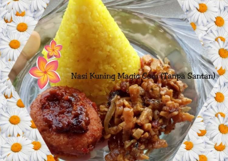Nasi Kuning Magic Com Tanpa Santan