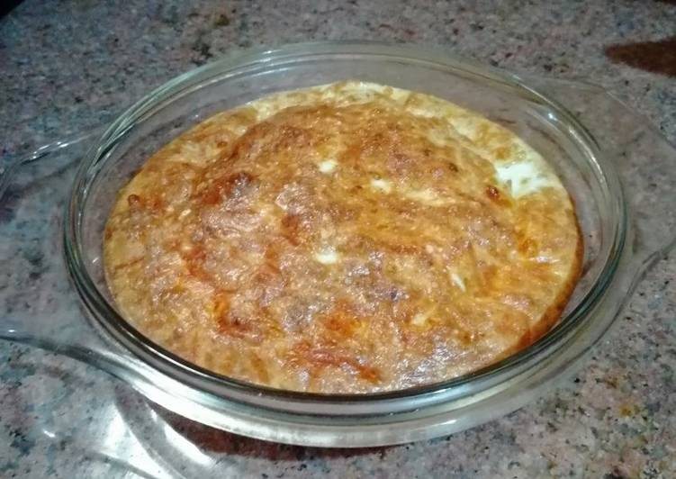 Recipe of Super Quick Homemade Egg and Mozzarella Pie
