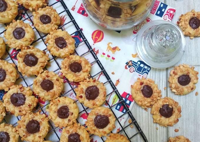 Choco Peanut Thumbprint Cookies