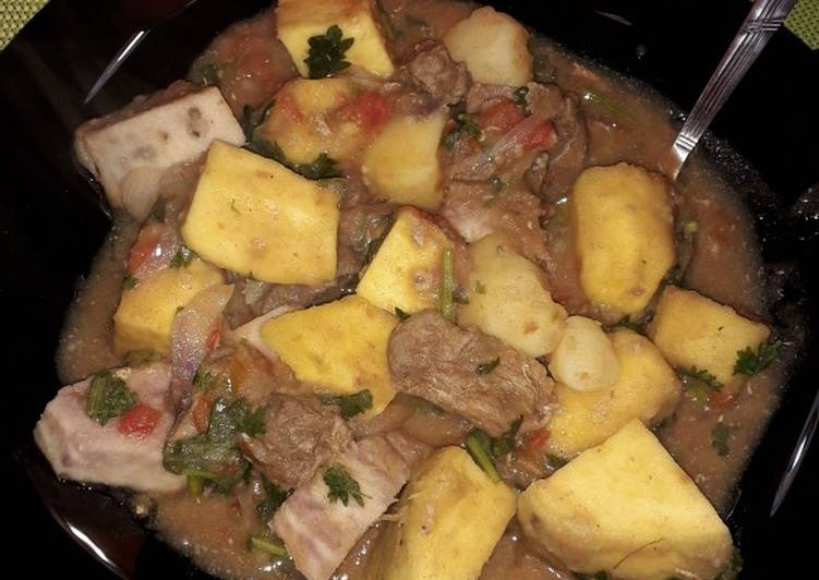 Arrowroot stew #mycreativearrowrootrecipecontest - Laurie G Edwards