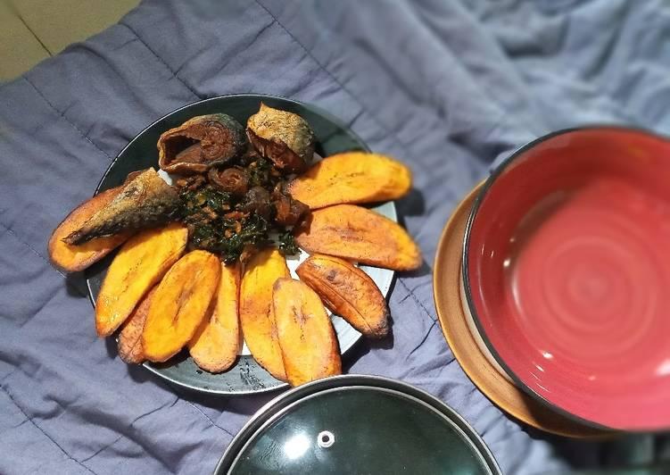 Pumpkin Sauce + Fried Mackerel & Plantain