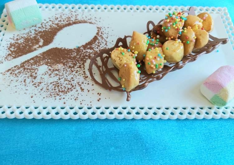 Ricetta Pignoccata siciliana su cialda di cioccolato