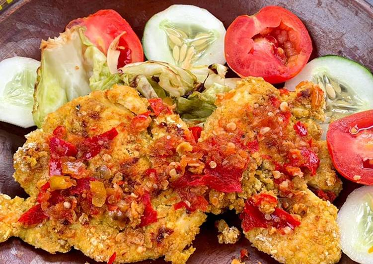 Ayam Geprek Oatmeal: Enak & Sehat