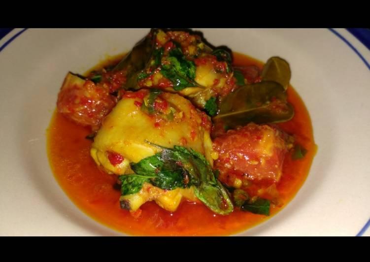 Resep 4. Ayam woku pedas jeruk yang Bisa Manjain Lidah