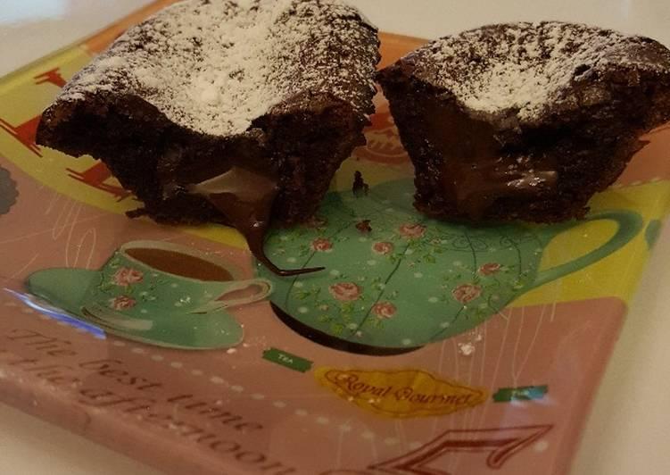 recette Fondants au chocolat individuels délicieux