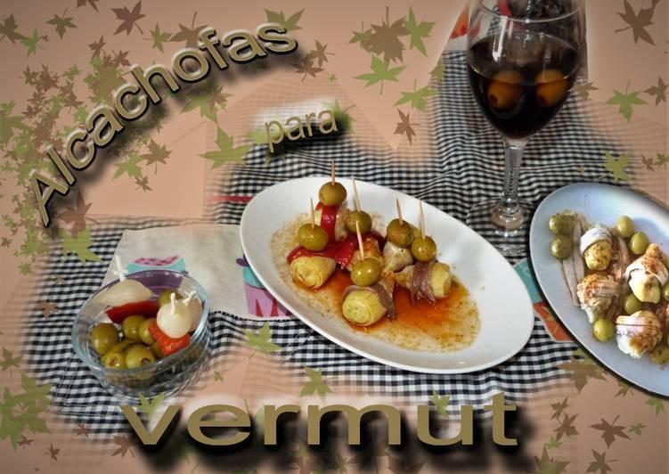 Corazones de alcachofas para vermut
