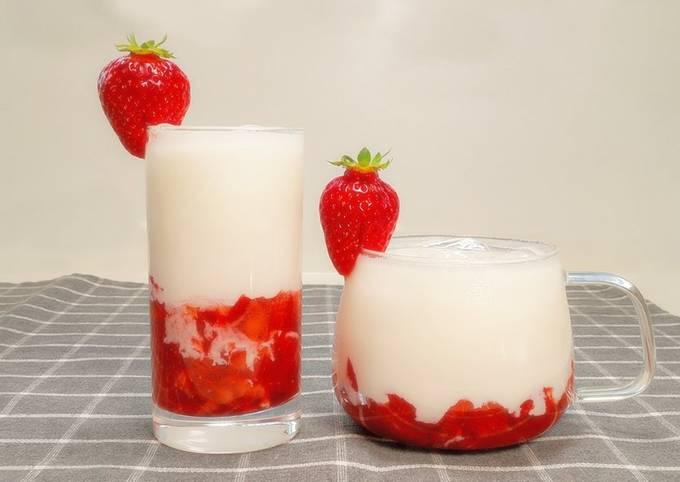 Korean Strawberry Milk Recipe