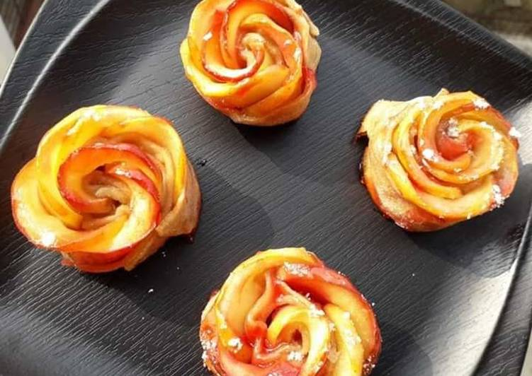 Step-by-Step Guide to Prepare Homemade Apple Rose Pastry Dessert