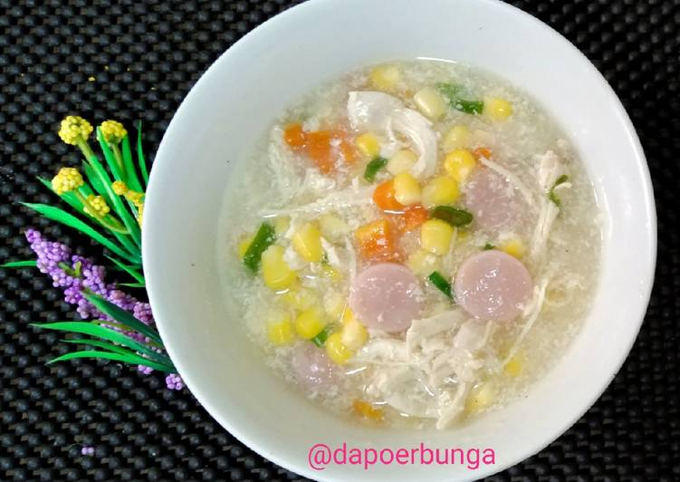Krim Sup Ayam Jagung wortel Sosis