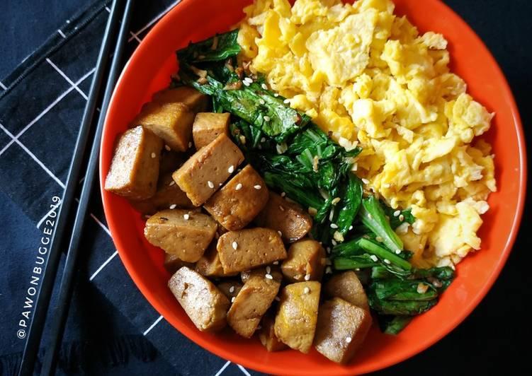 Resep Teriyaki Tofu Donburi Anti Gagal