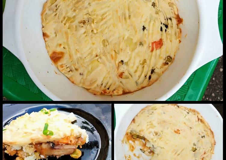 Recipe: Perfect Vegetarian mushroom shepherd's pie