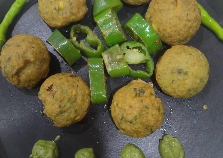 15 Minute Steps to Make Super Quick Homemade No Fry Dal vada