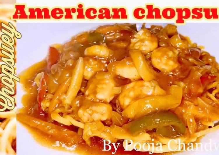 American Chopsuey with Prawns